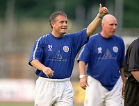 Mickey Adams (Leicester Manager) On Loan from Chelsea. Brighton & Hove Albion v Leicester City. 4/8/2003. Pre Season friendly match. Credit : Colorsport/Andrew Cowie