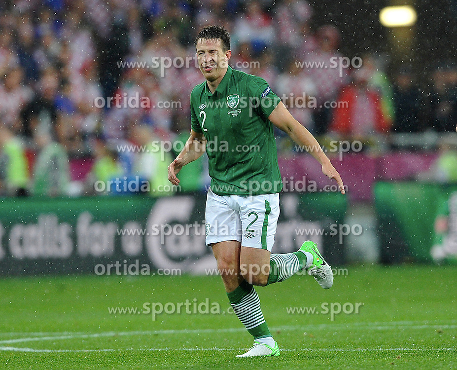 Poznan 10/06/2012.POLAND, Poznan.Sean St Ledger of Ireland celebrates his goal during the Euro 2012 football championships match Croatia vs Ireland on June 10, 2012 during the Euro 2012 football championships .Photo by: Piotr Hawalej / WROFOTO