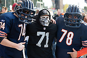 Bears and raiders fan together  during the International Series match between Chicago Bears and Oakland Raiders at Tottenham Hotspur Stadium, London, United Kingdom on 6 October 2019.