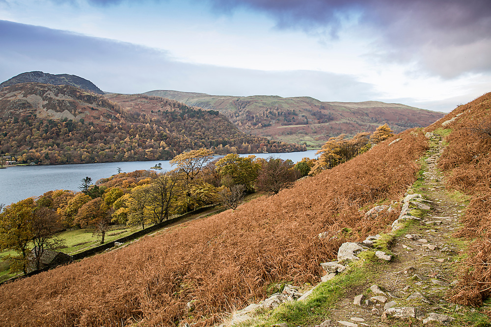 A mountain path above Ullswater in the English Lake District