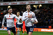 Goal celebration by Paul Gallagher of Preston North End  during the EFL Sky Bet Championship match between Preston North End and Huddersfield Town at Deepdale, Preston, England on 9 November 2019.