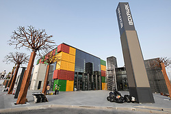 New Boxpark retail development under construction in Dubai United Arab Emirates