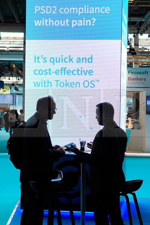 © Licensed to London News Pictures.<br /> 27/06/2017<br /> General views of The Money 20/20 Europe exhibition held at The Bella Centre in Copenhagen, Denmark,  June 27th 2017<br /> The Money 20/20 Europe exhibition is the largest FinTech event in Europe and show cases new and emerging technologies in the financial sector<br /> Photo credit should read Ant Upton/LNP