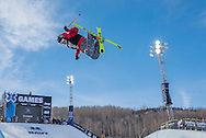 Alex Ferreira of Aspen, Colorado won the bronze medal in the Men's Ski SuperPipe in the 2015 Aspen X Games.