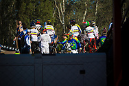 B practice riders at the UCI BMX Supercross World Cup in Santiago del Estero, Argintina.