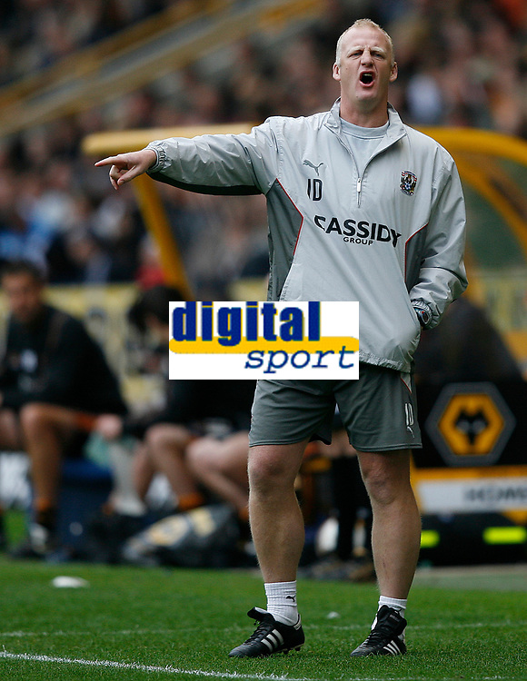 Photo: Steve Bond.<br />Wolverhampton Wanderers v Coventry City. Coca Cola Championship. 06/10/2007. Iain Dowie give instruction