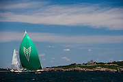 Carmella racing at the Newport Bucket Regatta