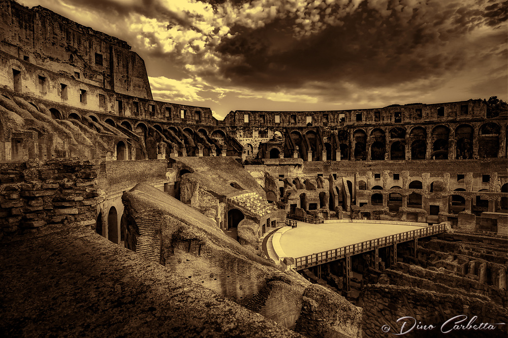 """Ring side seat Colosseum - BW""…<br />