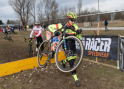 13.01.2019, Wien, AUT, ÖRV, Rad Radcross Staatsmeisterschaft, Herren Elite im Bild v.l. Gregor Raggl (AUT, Möbel Märki MTB Pro Team), Daniel Federspiel (AUT, Team Vorarlberg Santic) // during mens elite cyclo cross championship, Vienna, Austria on 2019/01/03. EXPA Pictures © 2019, PhotoCredit: EXPA/ R. Eisenbauer