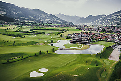 THEMENBILD - Golfplatz und Sportresidenz Zillertal. Der 18-Loch-Championshipplatz mit überdachter Drivingrange für PROS und Anfänger, aufgenommen am 05. Juni 2019 in Uderns Oesterreich // Golf course and sports residence Zillertal. The 18-hole championship course with covered driving range for PROS and beginners, in Uderns, Austria on 2019/06/05. EXPA Pictures © 2019, PhotoCredit: EXPA/ JFK