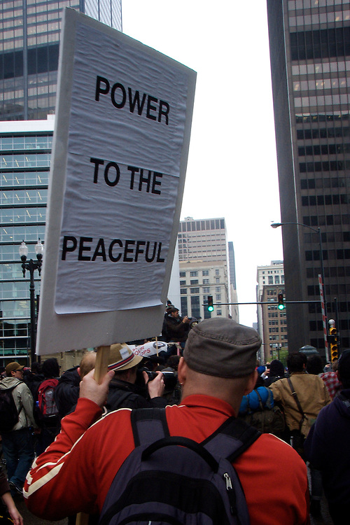 May Day Protest Chicago 2012