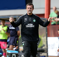 31/09/14 SCOTTISH PREMIERSHIP<br /> DUNDEE v CELTIC <br /> DENS PARK - DUNDEE<br /> Celtic manager Ronny Deila gets animated on the sidelines