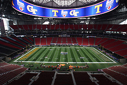 during the Chick-fil-A Kickoff NCAA football game on Monday, September 4, 2017, in Atlanta. (Karl L. Moore via Abell Images for Chick-fil-A Kickoff Game)