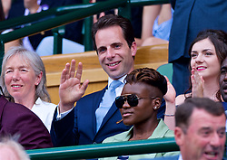 LONDON, ENGLAND - Saturday, July 7, 2018: Cyclist Mark Beaumont the Royal Box before the Gentlemen's Singles 3rd Round match on day six of the Wimbledon Lawn Tennis Championships at the All England Lawn Tennis and Croquet Club. (Pic by Kirsten Holst/Propaganda)