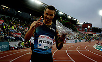 Friidrett , 9. juni 2016 , Diamond League , Bislett Games<br /> Athletics , <br /> winner 100 m Andre De Grasse , Canada