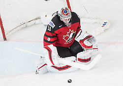 Calvin Pickard of Canada during the 2017 IIHF Men's World Championship group B Ice hockey match between National Teams of Canada and Switzerland, on May 13, 2017 in AccorHotels Arena in Paris, France. Photo by Vid Ponikvar / Sportida