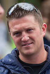 © Licensed to London News Pictures . 07/09/2013 . London , UK . Stephen Yaxley-Lennon (aka Tommy Robinson ) the EDL leader . The EDL hold a march and demonstration in London today (Saturday 7th September 2013) . Photo credit : Joel Goodman/LNP