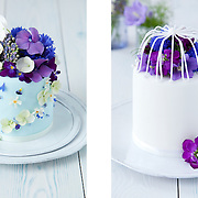 Floral-topped mini cakes, Olofson Design
