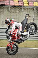 Emilio Zamora , Stuntman for Ducati during a show in Shanghai / For Ducati Asia Pacific