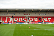 The Keepmoat Stadium before the The FA Cup match between Doncaster Rovers and Scunthorpe United at the Keepmoat Stadium, Doncaster, England on 3 December 2017. Photo by Craig Zadoroznyj.