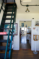Interior of Point Cabrillo Lighhouse, Mendocino California