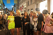 MODELLING NATALIA KAUT CLOTHES, Vogue's Fashion night out special opening of the Halcyon Gallery.  New Bond St. London. 6 December 2012.
