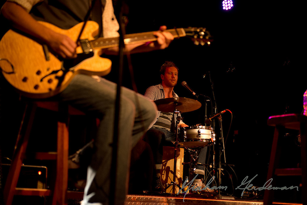 Drummer Jared Kneale of The Little Rippers performs at the Rutledge in Nashville, TN