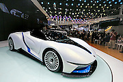 BEIJING, CHINA - APRIL 25: (CHINA OUT) <br /> <br /> A BAIC Motor Arcfox-7 concept electric vehicle is on display at the Beijing International Automotive Exhibition on April 25, 2016 in Beijing, China. <br /> ©Exclusivepix Media