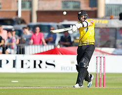Gloucestershire's Ian Cockbain holes out<br /> <br /> Photographer Simon King/Replay Images<br /> <br /> Vitality Blast T20 - Round 1 - Somerset v Gloucestershire - Friday 6th July 2018 - Cooper Associates County Ground - Taunton<br /> <br /> World Copyright © Replay Images . All rights reserved. info@replayimages.co.uk - http://replayimages.co.uk