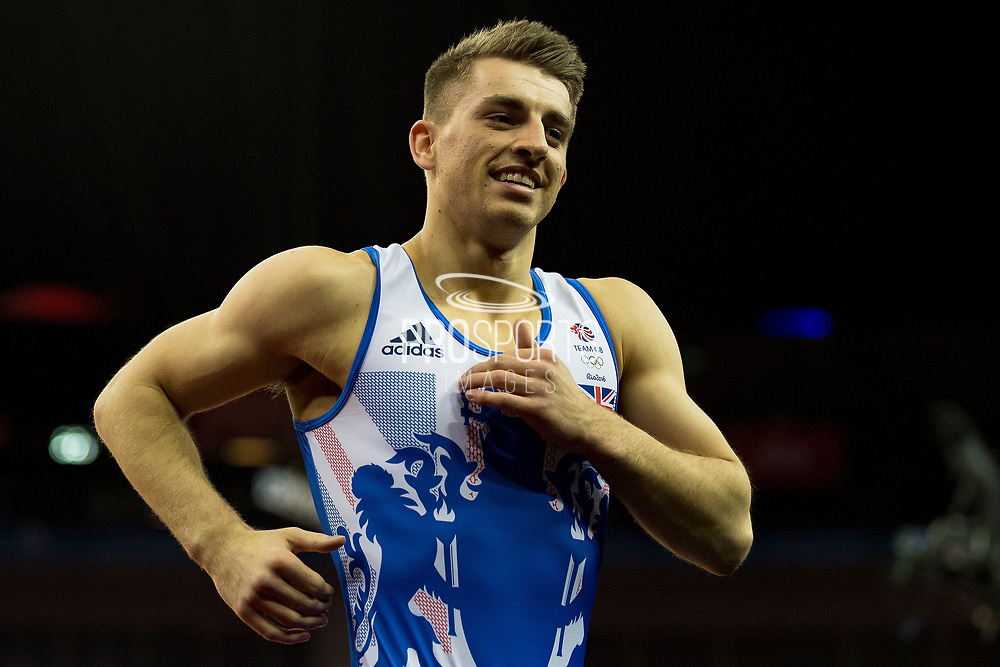 Max Whitlock of Great Britain (GBR) during the iPro Sport World Cup of Gymnastics 2017 at the O2 Arena, London, United Kingdom on 8 April 2017. Photo by Martin Cole.
