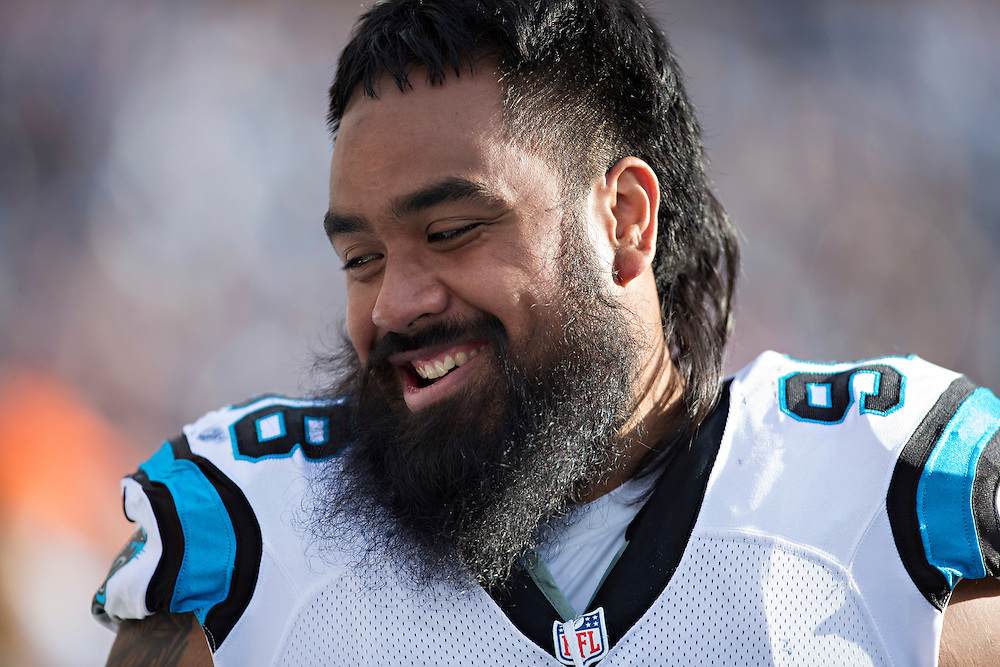 NASHVILLE, TN - NOVEMBER 15:  Star Lotulelei #98 of the Carolina Panthers on the sidelines during a game against the Tennessee Titans at Nissan Stadium on November 15, 2015 in Nashville, Tennessee.  (Photo by Wesley Hitt/Getty Images) *** Local Caption *** Star Lotulelei
