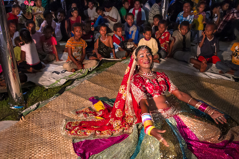 Kawakawa, near Labasa, Fiji:<br /> Kamal Deo performs at a wedding. A cane cutter who lives with his wife and daughter, he earns more money as a wedding dancer with the nickname &quot;Gorilla&quot; than he does cutting cane