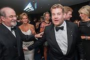 SALMAN RUSHDIE; CAROLINE MICHEL; JAMES CORDEN, 2012 GQ Men of the Year Awards,  Royal Opera House. Covent Garden, London.  3 September 2012