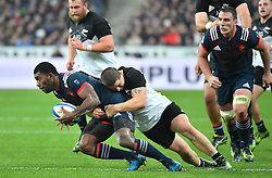 France's Noa Nakaitaci during Autumn rugby test match France v New Zealand at the Stade de France in Saint-Denis, in the outskirts of Paris, France, on November 26, 2016. The All Blacks won 24-19. Photo by Christian Liewig/ABACAPRESS.COM