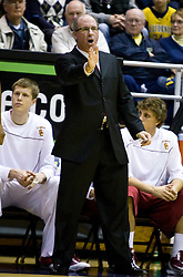 January 9, 2010; Berkeley, CA, USA;  Southern California Trojans head coach Kevin O'Neill during the first half against the California Golden Bears at the Haas Pavilion.  California defeated USC 67-59.