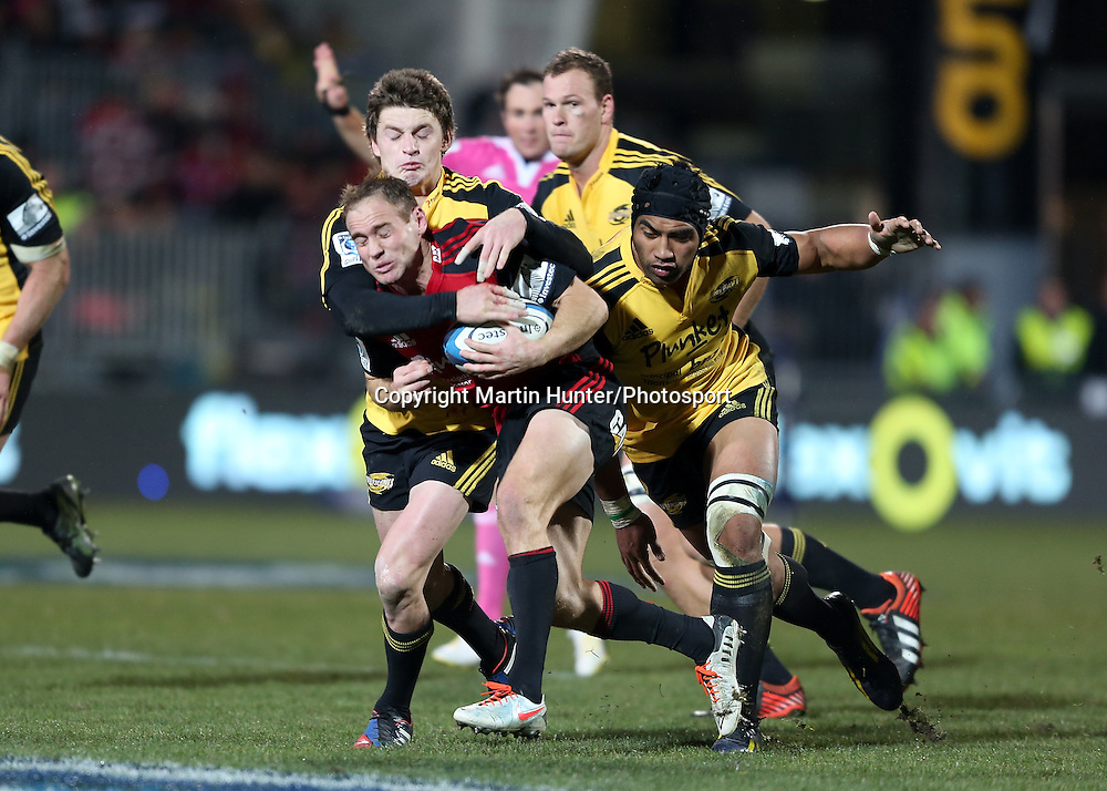 Andy Ellis. Crusaders vs.Hurricanes. Investec Super 15 Rugby Season. AMI Stadium, Christchurch, New Zealand. Friday 12 July 2013. Photo: Martin Hunter/Photosport.co.nz