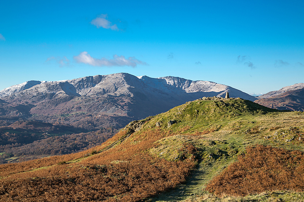 A mountain summit in the English Lake District