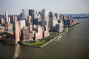 At the tip of Manhattan Island, Battery Park and the Financial District lie just several feet above current mean sea level.  New York City has more than 600 miles of coastline that will have to contend with flooding from rising sea levels and increasingly heavy storms caused by climate change.