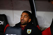 Aaron Lennon of Burnley on the bench for the Premier League match between Sheffield United and Burnley at Bramall Lane, Sheffield, England on 2 November 2019.