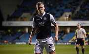 Steve Morison watches the play unfold during the Johnstone's Paint Trophy semi final first leg match between Millwall and Oxford United at The Den, London, England on 14 January 2016. Photo by Michael Hulf.