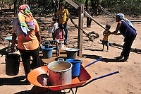 Pumping water from a well in Yapiroa, Charagua, Santa Cruz, Bolivia