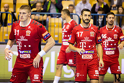Blaz Blagotinsek of Telekom Veszprem HC and Dragan Gajic of Telekom Veszprem HC during handball match between RK Celje Pivovarna Lasko and Telekom Veszprem in 1st round of VELUX EHF Champions League, on September 16, 2017 in Arena Zlatorog, Celje, Slovenia. Photo by Ziga Zupan / Sportida