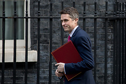 © Licensed to London News Pictures. 06/02/2018. London, UK. Defence Secretary Gavin Williamson arriving in Downing Street to attend a Cabinet meeting this morning. Photo credit : Tom Nicholson/LNP