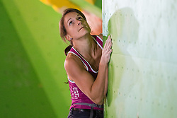 Anna Stöhr of Austria during Final IFSC World Cup Bouldering Competition in sport climbing Log Dragomer 2013, on May 12, 2013 in Sportni Park, Log pri Brezovici, Slovenia. (Photo By Matic Klansek Velej/ Sportida.com)