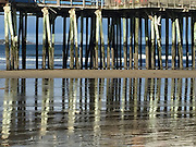 A common reflection at Old Orchard Beach Pier, Maine