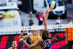 during Semifinals of Beach Volleyball World Tour in Ljubljana 2020, on August 2, 2020 in Kongresni trg, Ljubljana, Slovenia. Photo by Grega Valancic / Sportida