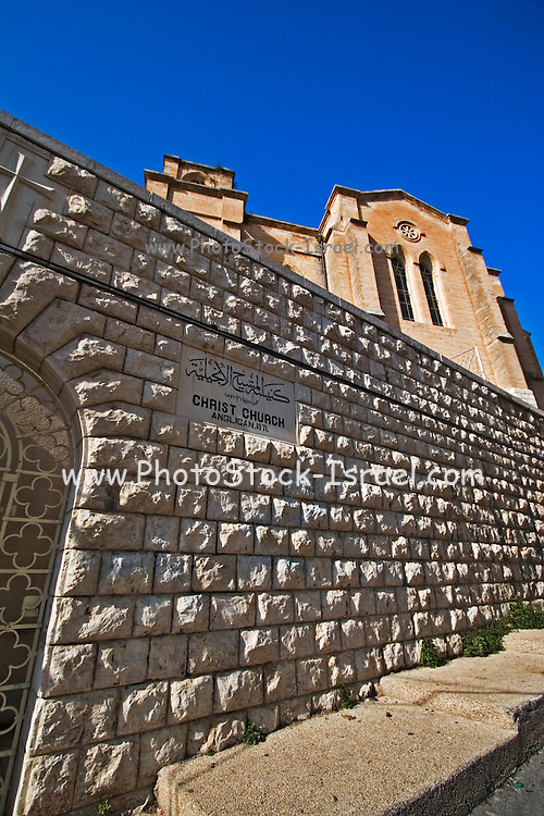 Israel, Lower Galilee, Nazareth. Christ Church. The Protestant-Anglican Christ Church in Nazareth was built in 1871, close to the Basilica of Annunciation. It hosted the Episcopal Christ school.