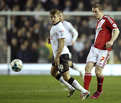 Middlesbrough's Grant Leadbitter and Derby County's Jamie Ward - Photo mandatory by-line: Robbie Stephenson/JMP - Mobile: 07966 386802 - 17/03/2015 - SPORT - Football - Derby - iPro Stadium - Derby County v Middlesbrough - Sky Bet Championship