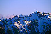 Evening light on Mount Olympus from Hurricane Ridge, Olympic National Park, Washington