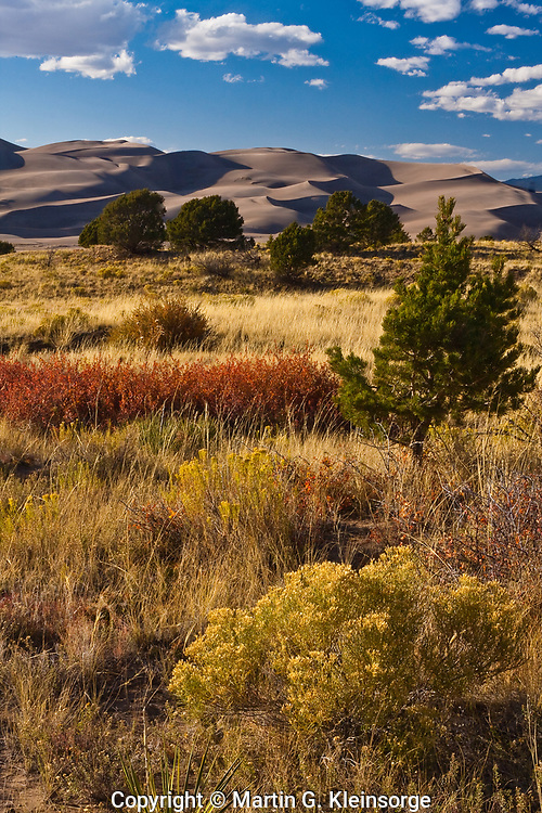 Great Sand Dunes National Park during the autumn season. Colorado.